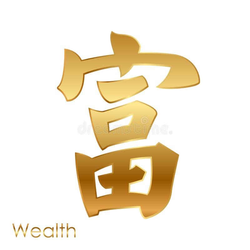 Χαρακτήρας της καλής τύχης (Feng Shui) απεικόνιση αποθεμάτων