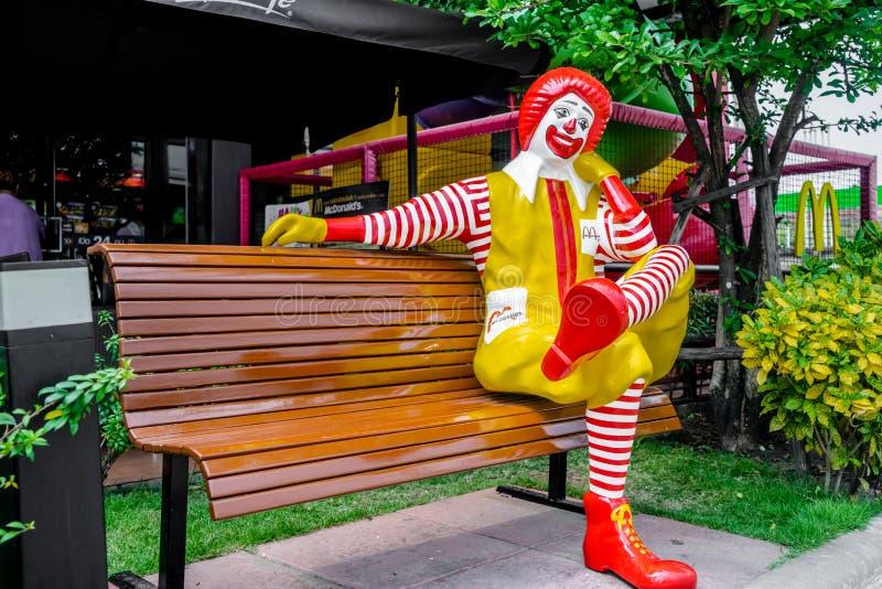 Χαρακτήρας του Ronald McDonald στοκ εικόνες με δικαίωμα ελεύθερης χρήσης