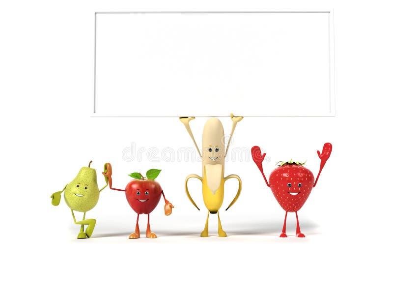 Χαρακτήρας τροφίμων - καρποί διανυσματική απεικόνιση
