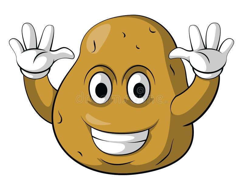 Χαρακτήρας χαμόγελου πατατών απεικόνιση αποθεμάτων