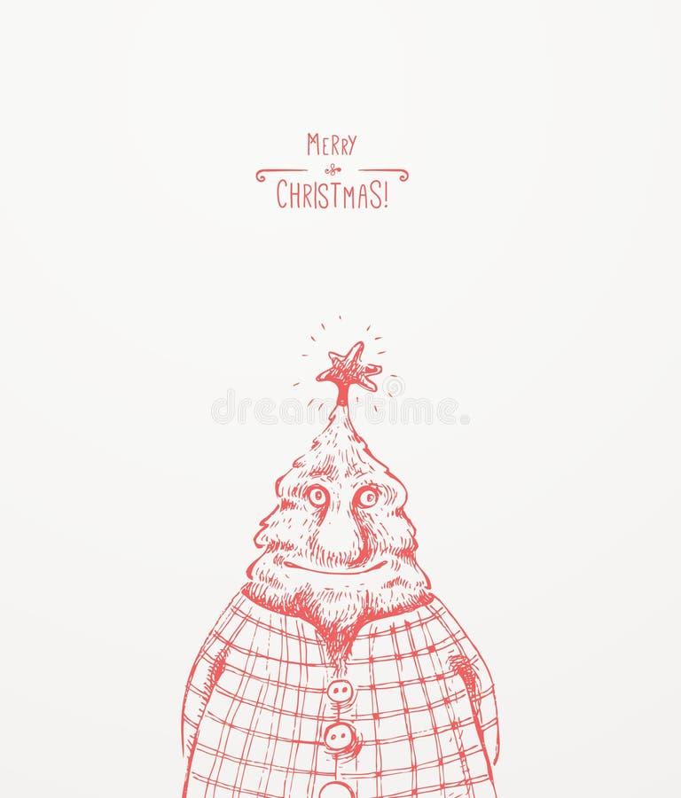 Χαρακτήρας χριστουγεννιάτικων δέντρων ελεύθερη απεικόνιση δικαιώματος