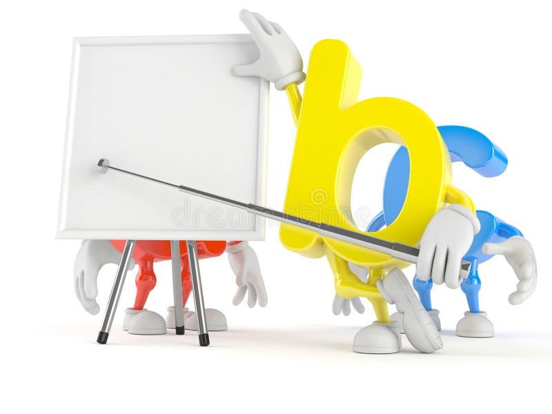Χαρακτήρας ABC με το κενό whiteboard απεικόνιση αποθεμάτων