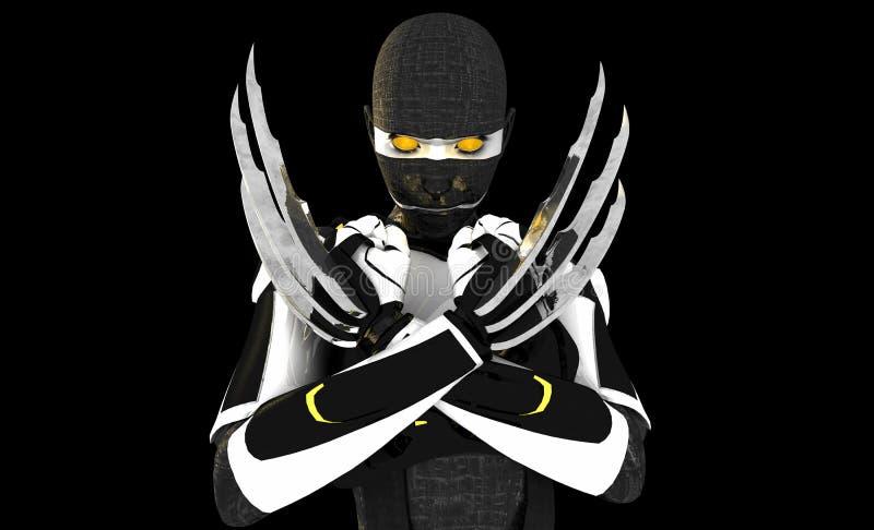 χαρακτήρας cyborg διανυσματική απεικόνιση