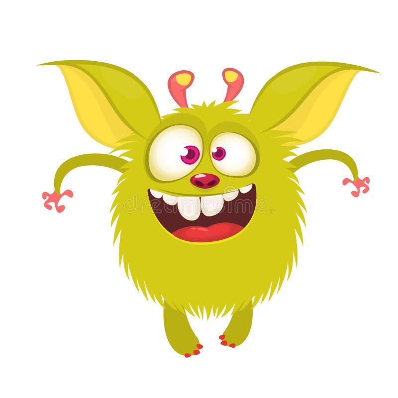 Χαρακτήρας gremlin κινούμενων σχεδίων Αστείο πλάσμα με τα μεγάλα αυτιά διανυσματική απεικόνιση