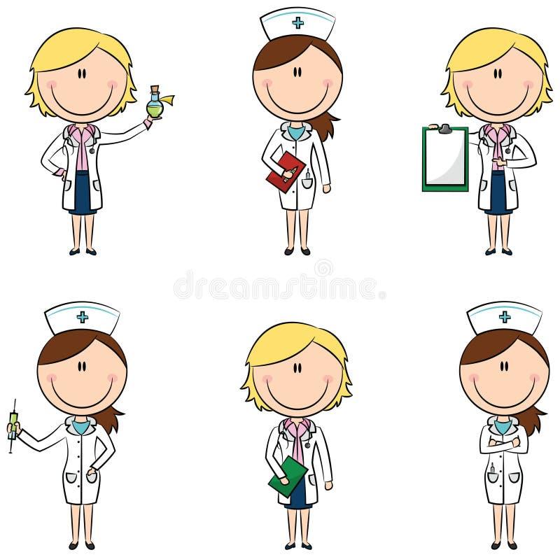 Χαρακτήρες γιατρών ελεύθερη απεικόνιση δικαιώματος
