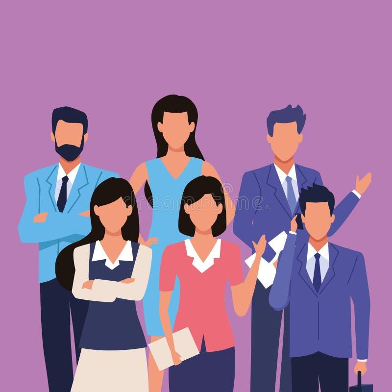 Χαρακτήρες επιχειρηματιών και επιχειρηματιών απεικόνιση αποθεμάτων
