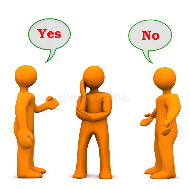 Επιρροή ναι αριθ. ελεύθερη απεικόνιση δικαιώματος