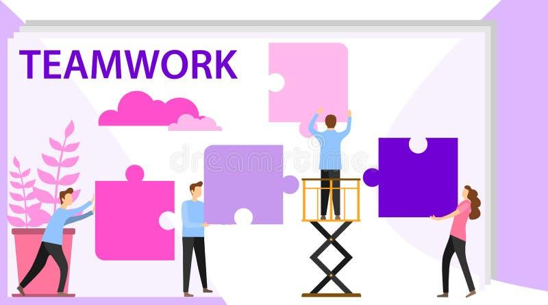 Επιχειρησιακή έννοια της διανυσματικής απεικόνισης, μικρές συνδέσεις ανθρώπων του μηχανισμού Χαρακτήρες του κρατήματος επιχειρημα απεικόνιση αποθεμάτων