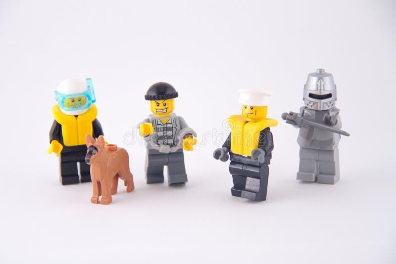 Χαρακτήρες Lego στοκ εικόνα με δικαίωμα ελεύθερης χρήσης