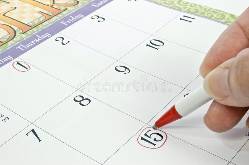 Χαρακτηρισμός του ημερολογίου για την προθεσμία ή άλλη έννοια στοκ εικόνες