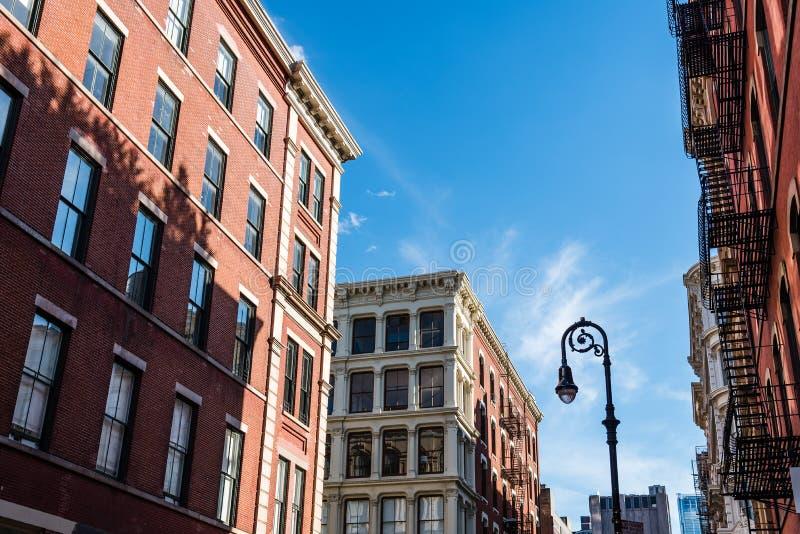 Χαρακτηριστικά κτήρια σε Soho στη Νέα Υόρκη στοκ εικόνες