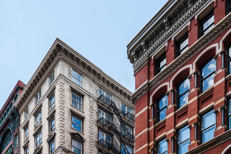 Χαρακτηριστικά κτήρια σε Soho στη Νέα Υόρκη στοκ φωτογραφία με δικαίωμα ελεύθερης χρήσης