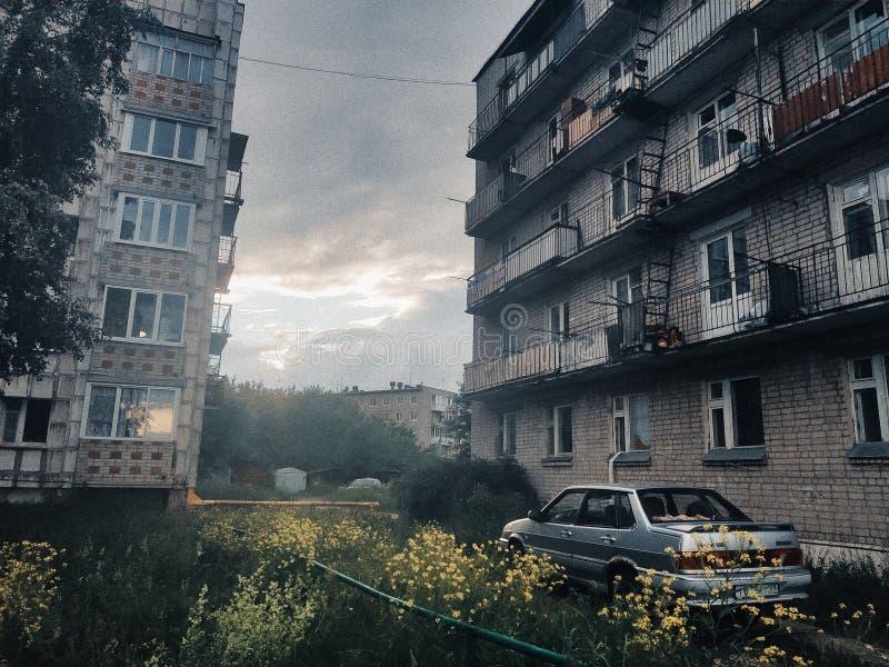 Χαρακτηριστικά ρωσικό Townscape στοκ φωτογραφία με δικαίωμα ελεύθερης χρήσης
