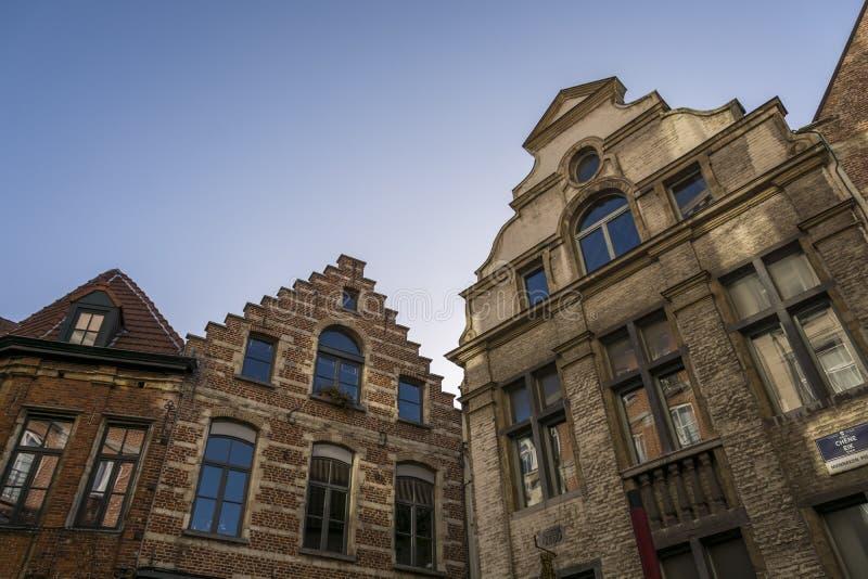 Χαρακτηριστικά φλαμανδικά κτήρια του Βελγίου στοκ εικόνα