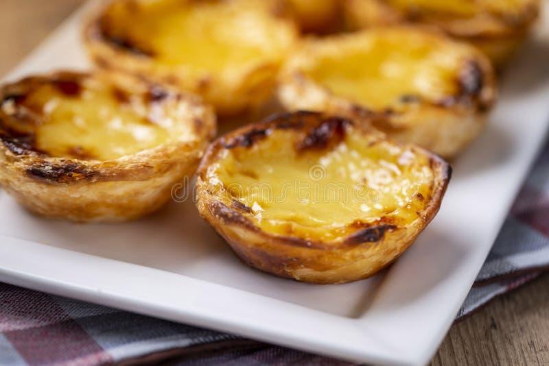 Χαρακτηριστικές πορτογαλικές πίτες κρέμας, κρητιδογραφία de Βηθλεέμ ` ` Pastel de Nata ` ή ` στοκ φωτογραφίες