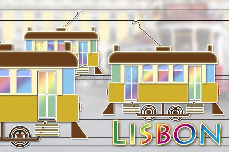 Χαρακτηριστική αστική μεταφορά της πόλης της Λισσαβώνας Ευρώπη - Πορτογαλία ελεύθερη απεικόνιση δικαιώματος