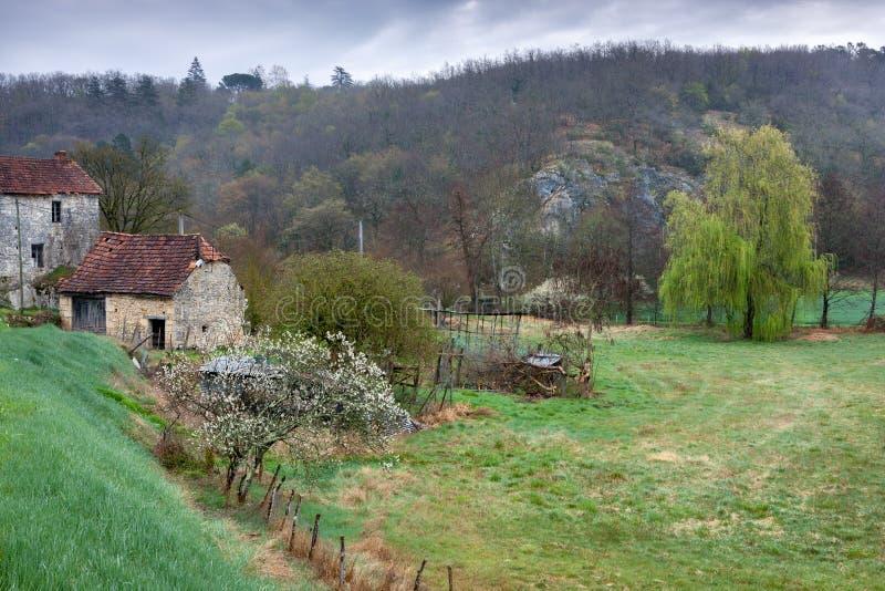 Χαρακτηριστική γαλλική αυλή στοκ εικόνες με δικαίωμα ελεύθερης χρήσης