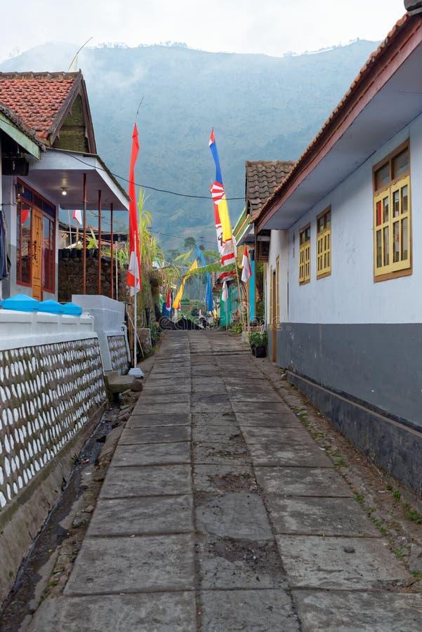 Χαρακτηριστική οδός ενός της Ιάβας χωριού στοκ φωτογραφία