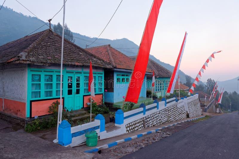 Χαρακτηριστική οδός ενός της Ιάβας χωριού στοκ φωτογραφίες