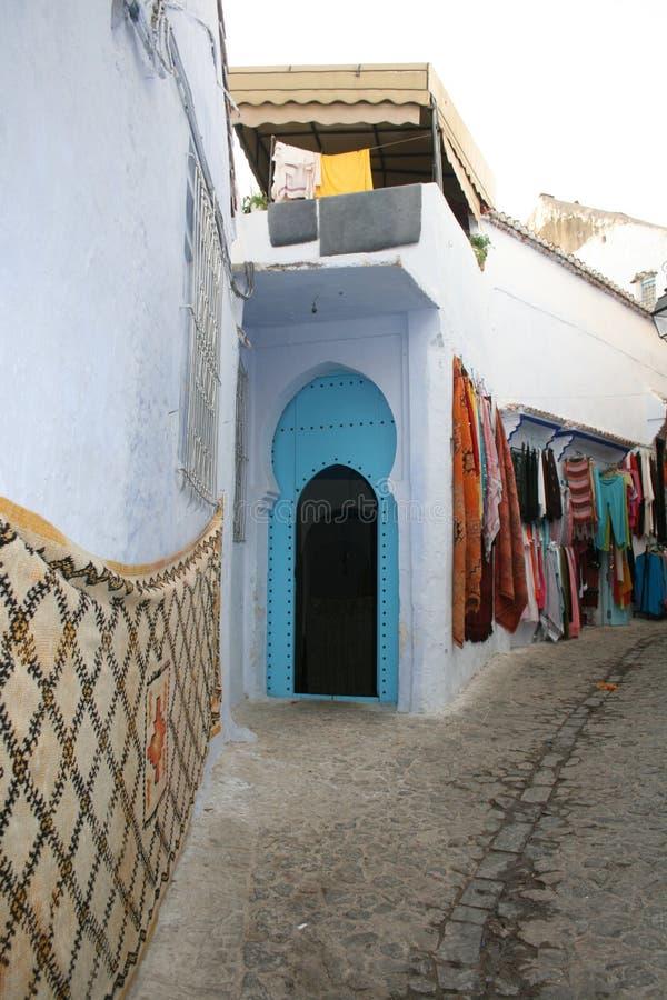 Χαρακτηριστική οδός του Μαρόκου στοκ εικόνες