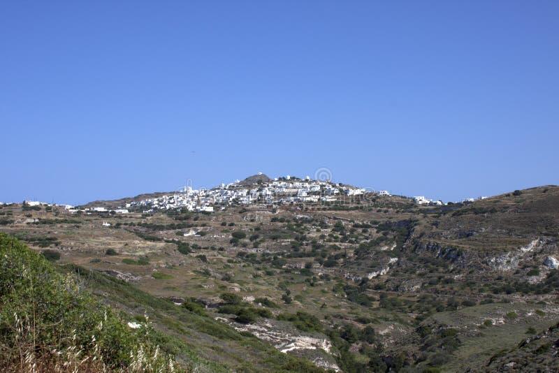 Χαρακτηριστική πόλη Cycladic στοκ φωτογραφία με δικαίωμα ελεύθερης χρήσης