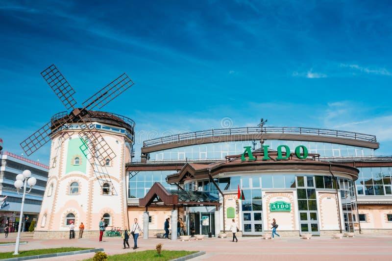 Χαρακτηριστικό λετονικό εστιατόριο αυτοεξυπηρετήσεων Lido με στοκ εικόνες με δικαίωμα ελεύθερης χρήσης