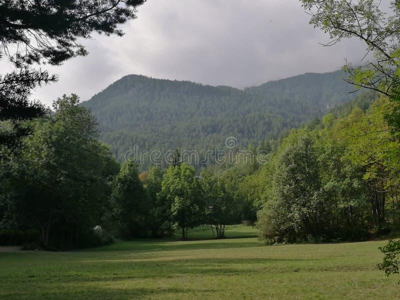 Χαρακτηριστικό πράσινο τοπίο βουνών του Val Suza στο βόρειο τμήμα της Ιταλίας στοκ φωτογραφία με δικαίωμα ελεύθερης χρήσης