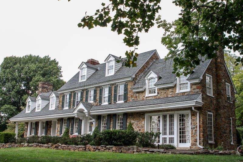 Χαρακτηριστικό συμμετρικό αμερικανικό σπίτι στοκ φωτογραφία με δικαίωμα ελεύθερης χρήσης