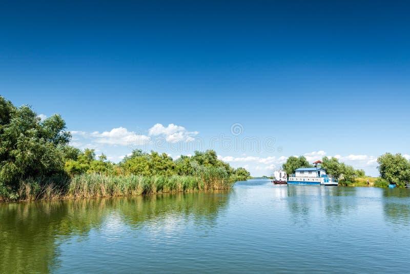 Χαρακτηριστικό του δέλτα τοπίο Δούναβη στοκ εικόνα