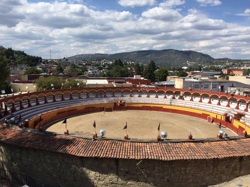 Χαρακτηριστικό ` Plaza de Toros ` στο Μεξικό στοκ εικόνες με δικαίωμα ελεύθερης χρήσης