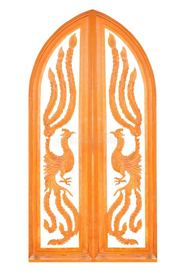 χαρασμένο παράθυρο ξύλινο στοκ εικόνα