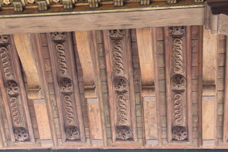 Χαρασμένο τεμάχιο στεγών στο πεζούλι του Κρόνου σε Palazzo Vecchio, Φλωρεντία, Ιταλία στοκ εικόνα