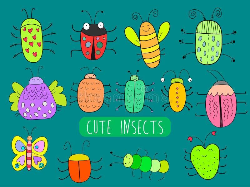 χαριτωμένα έντομα απεικόνιση αποθεμάτων