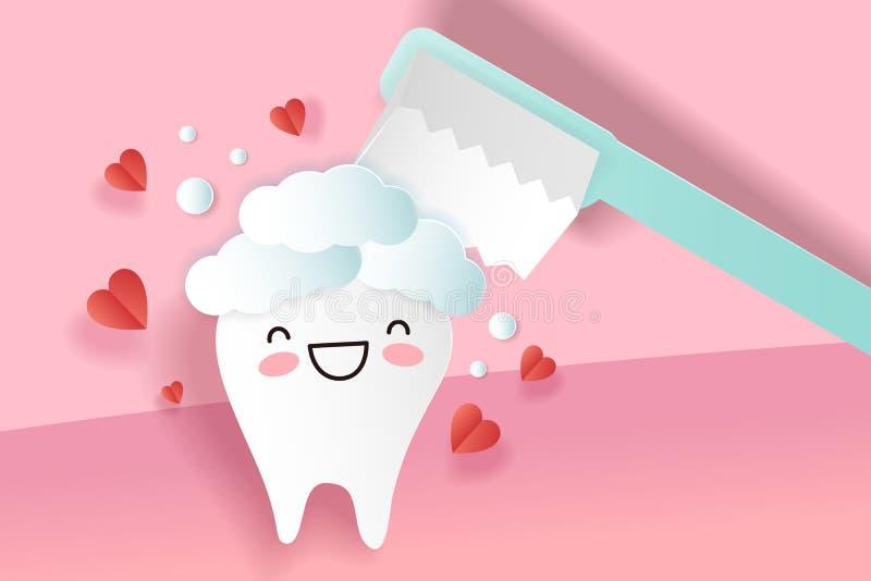 Χαριτωμένα δόντια κινούμενων σχεδίων ελεύθερη απεικόνιση δικαιώματος