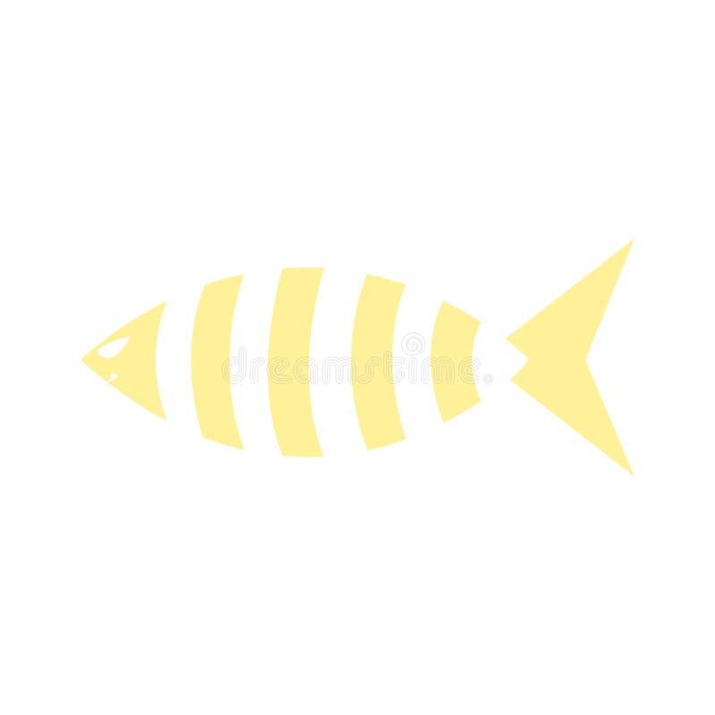 Χαριτωμένα εικονίδια ψαριών που δείχνουν υδρόβια ζώα με διάφορα πτερύγια, κλίμακες, ουρές και βράγχια να κολυμπούν στο νερό Καλό  ελεύθερη απεικόνιση δικαιώματος