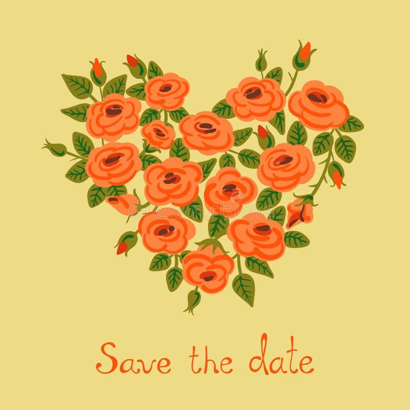 Χαριτωμένα εκλεκτής ποιότητας τριαντάφυλλα που τακτοποιούνται σε μια μορφή καρδιών ελεύθερη απεικόνιση δικαιώματος