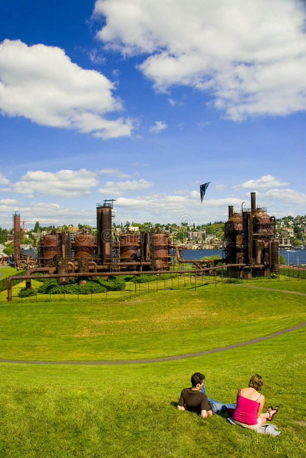 χαριτωμένα εργοστάσια αερίου ζευγών στοκ εικόνα