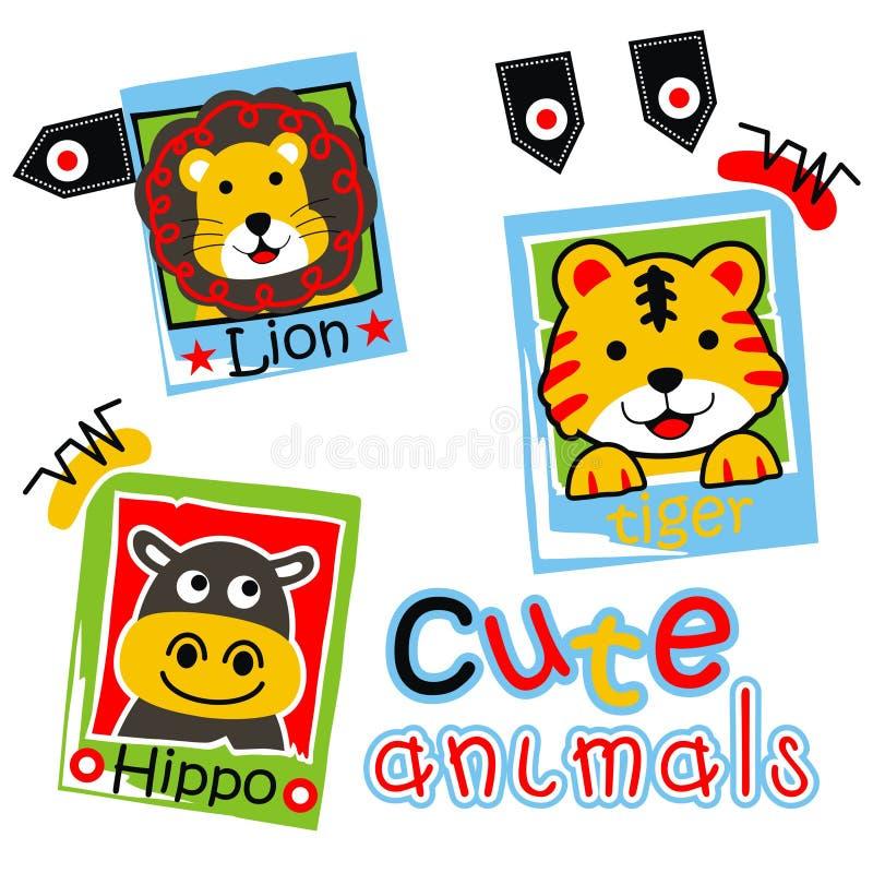 Χαριτωμένα ζώα διανυσματική απεικόνιση
