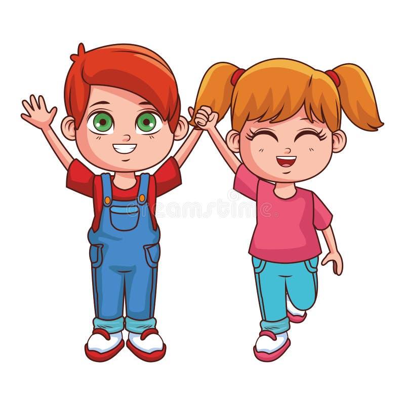 Χαριτωμένα κινούμενα σχέδια παιδιών ελεύθερη απεικόνιση δικαιώματος
