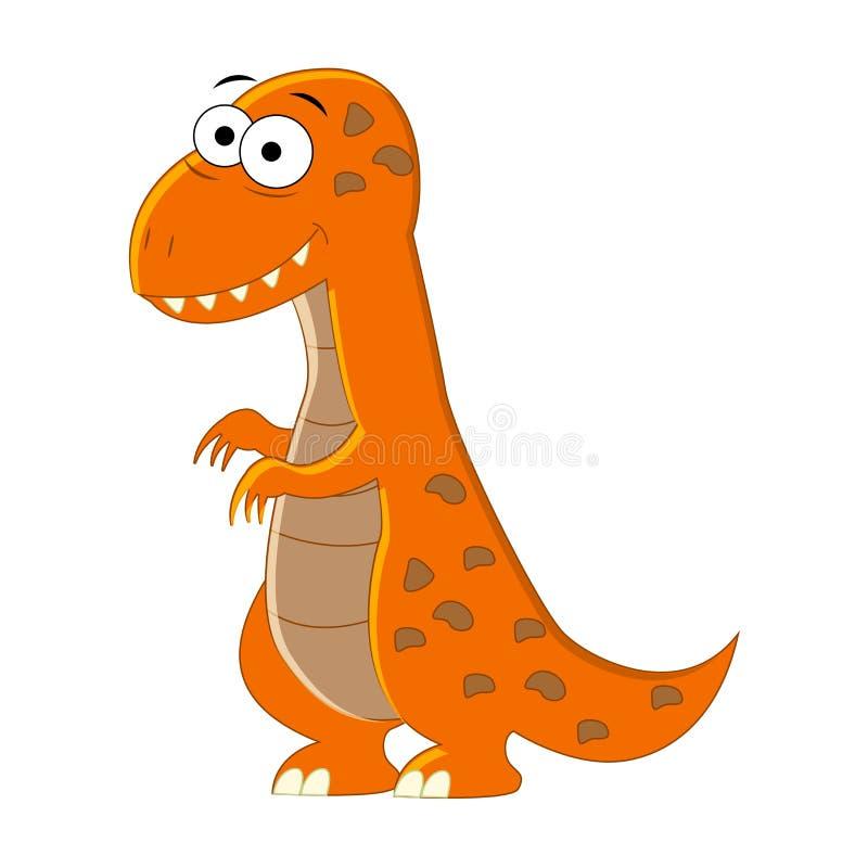 Χαριτωμένα κινούμενα σχέδια τ -τ-rex Διανυσματική απεικόνιση του δεινοσαύρου που απομονώνεται ελεύθερη απεικόνιση δικαιώματος
