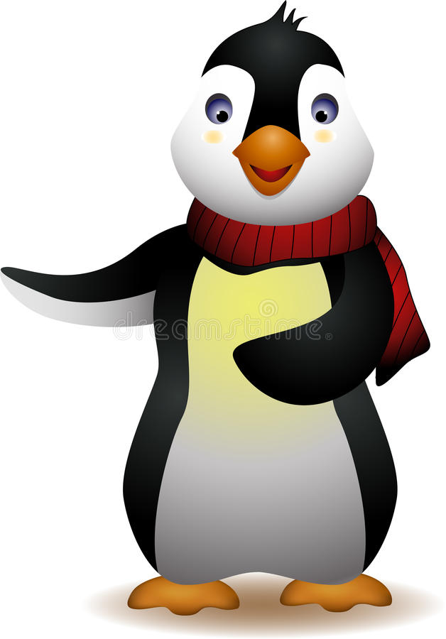 Χαριτωμένα κινούμενα σχέδια penguin απεικόνιση αποθεμάτων