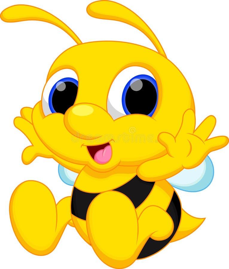 Χαριτωμένα κινούμενα σχέδια μελισσών μωρών διανυσματική απεικόνιση
