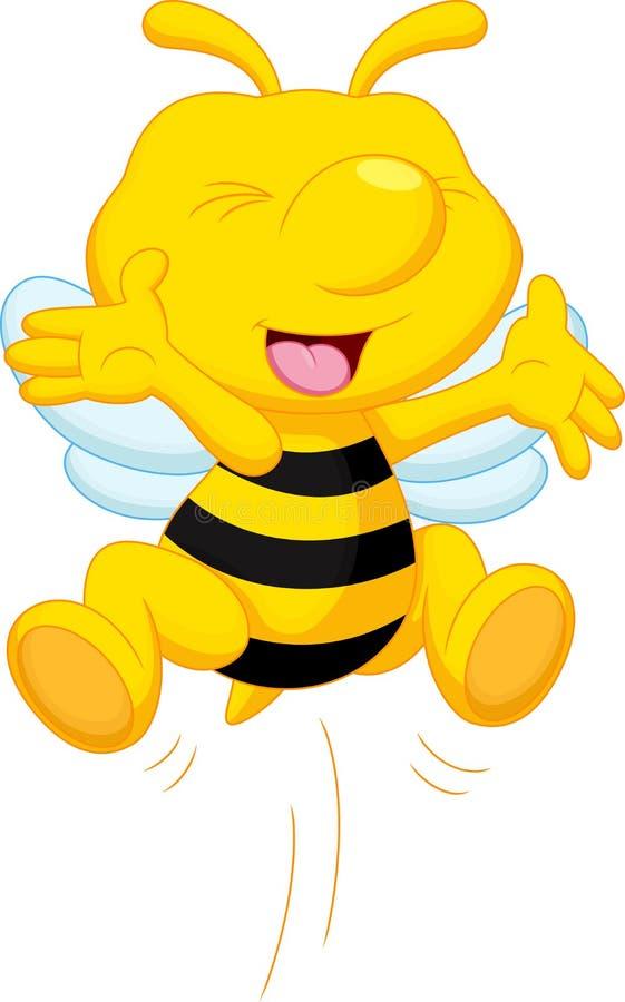 Χαριτωμένα κινούμενα σχέδια μελισσών απεικόνιση αποθεμάτων