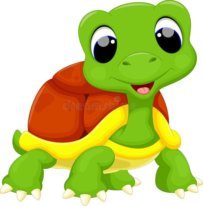 Χαριτωμένα κινούμενα σχέδια χελωνών διανυσματική απεικόνιση