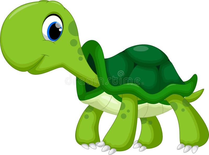 Χαριτωμένα κινούμενα σχέδια χελωνών ελεύθερη απεικόνιση δικαιώματος