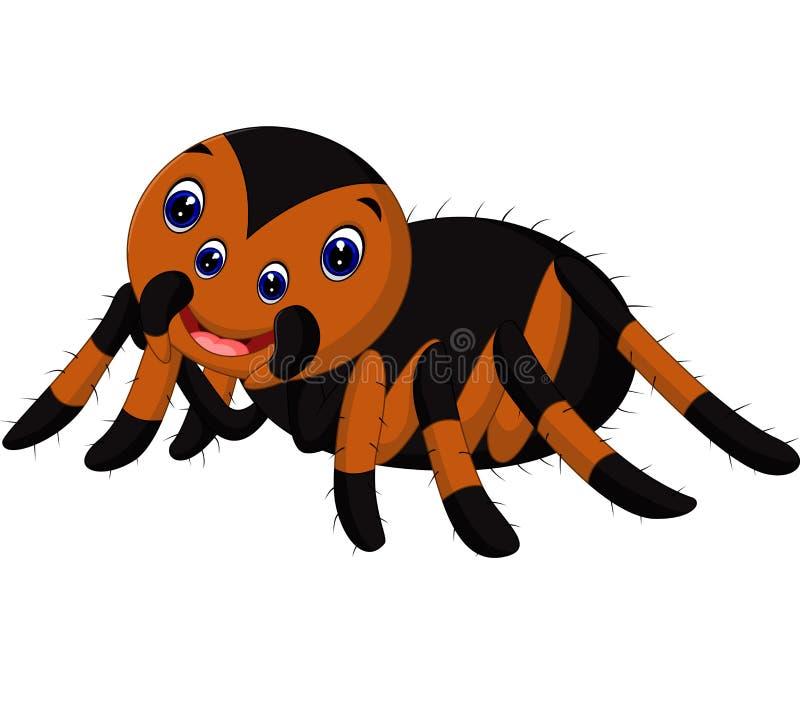 Χαριτωμένα κινούμενα σχέδια tarantula διανυσματική απεικόνιση