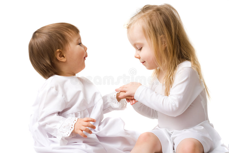 χαριτωμένα κορίτσια λίγα &delta στοκ φωτογραφία με δικαίωμα ελεύθερης χρήσης