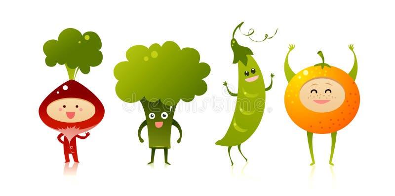 χαριτωμένα λαχανικά απεικόνιση αποθεμάτων