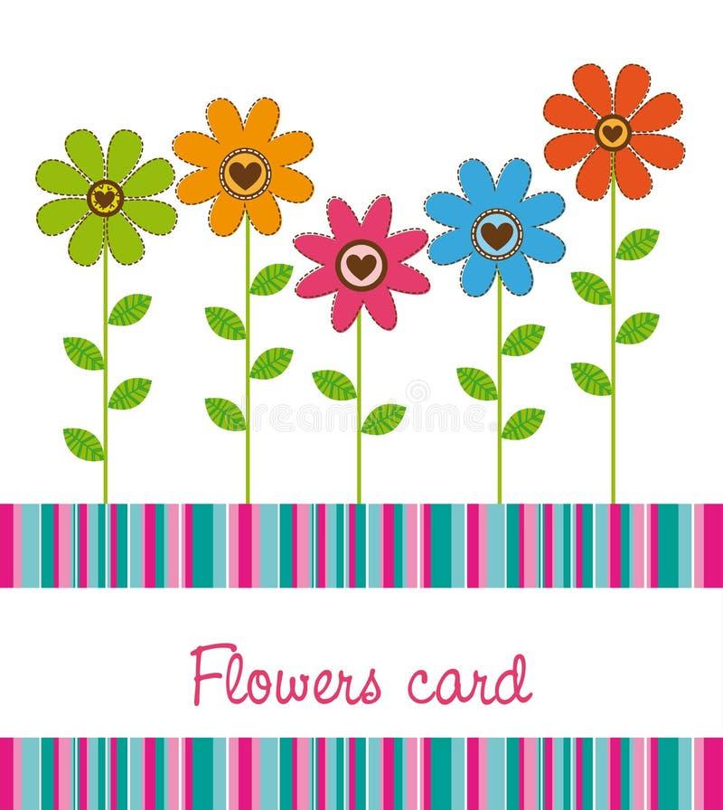 χαριτωμένα λουλούδια ελεύθερη απεικόνιση δικαιώματος