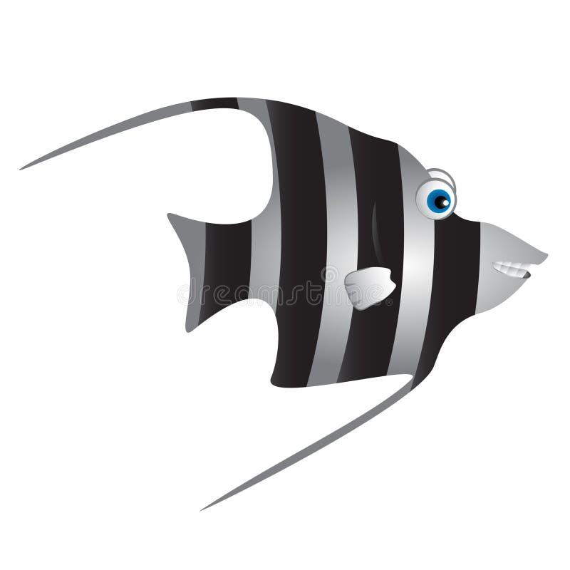 Χαριτωμένα μαυριτανικά κινούμενα σχέδια ψαριών ειδώλων απεικόνιση αποθεμάτων